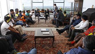 STF: Presidente do STF recebe indígenas das etnias Xikrin e Caiapó