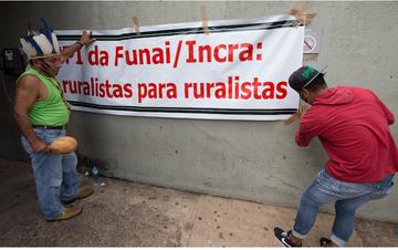 RBA: Com demarcações paralisadas, Funai passa por loteamento partidário.