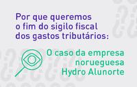 INESC: Por que queremos o fim do sigilo fiscal dos gastos tributários: o caso empresa Hydro Alunorte