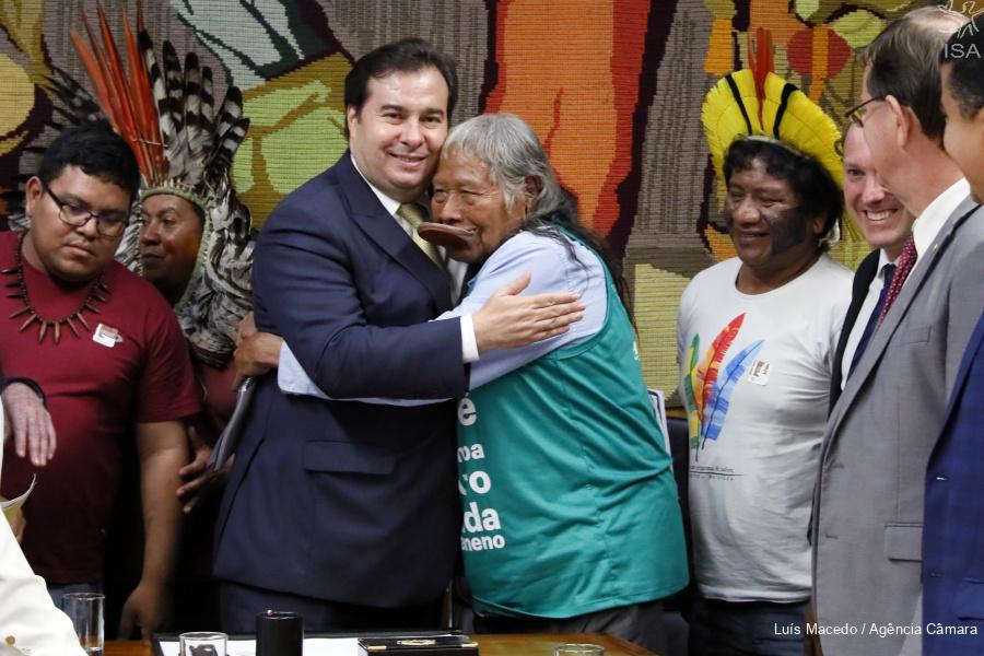 AMAZÔNIA NOTÍCIA E INFORMAÇÃO: Maia diz que projeto de Bolsonaro para Terras Indígenas está sob seu controle e não é prioridade