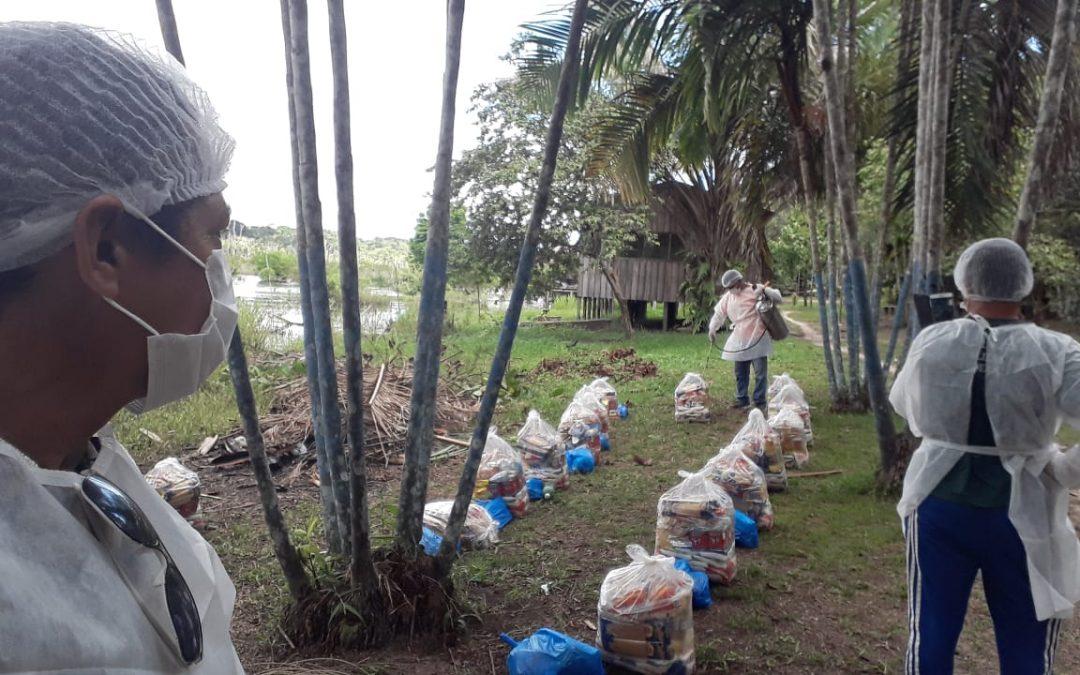 FUNAI: Coordenação Médio Purus da Funai distribuiu cerca de 900 cestas de alimentos; veja vídeo