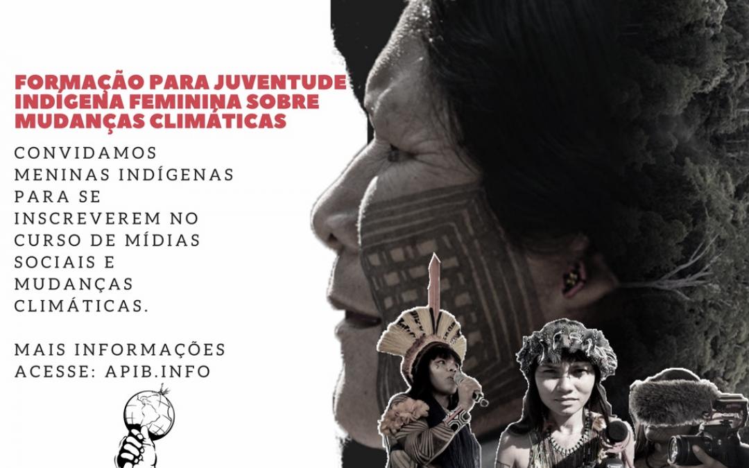 APIB: INSCREVA-SE: Formação para jovens meninas indígenas