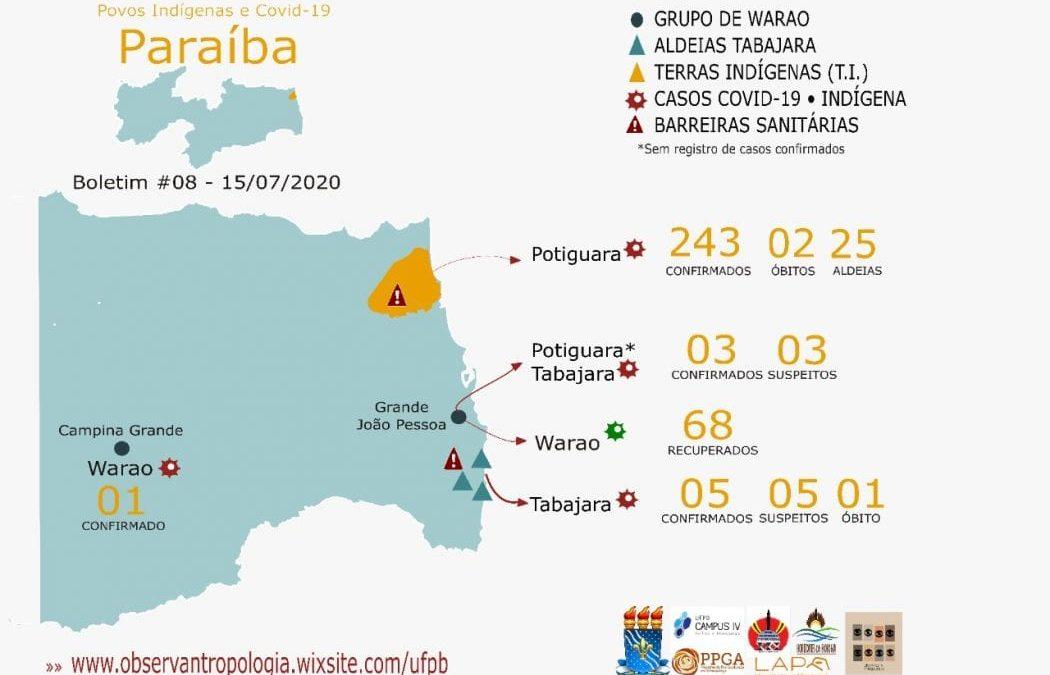 CIMI: Mais de 300 indígenas testaram positivo para Covid-19 na Paraíba, aponta Universidade