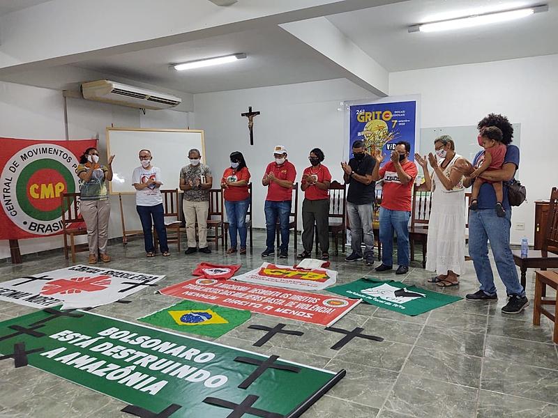 """BRASIL DE FATO: Solidariedade virtual e """"Fora Bolsonaro"""" marcam o Grito dos Excluídos 2020"""