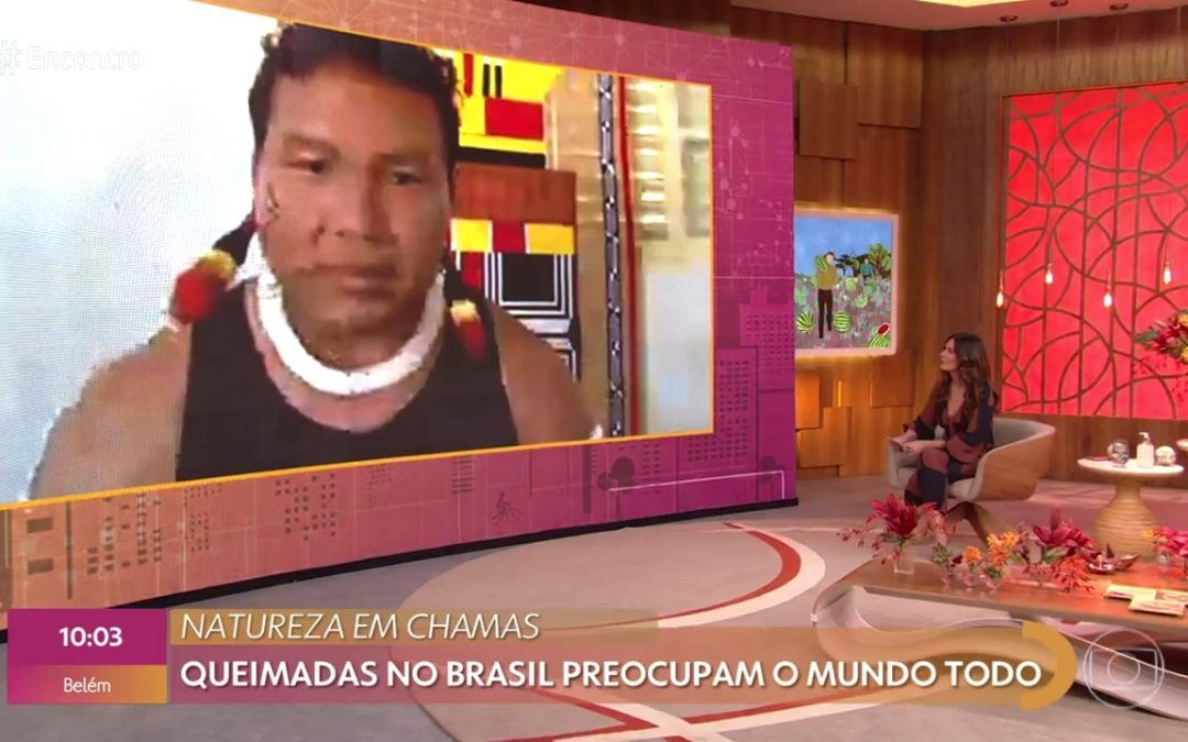 JORNALISTAS LIVRES: Líder indígena que participa de projeto na UFMT é entrevistado na TV