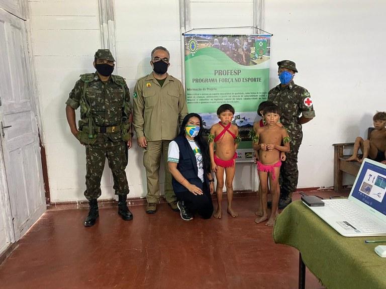 FUNAI: Durante missão das Forças Armadas, Funai participa de ação voltada a crianças Yanomami