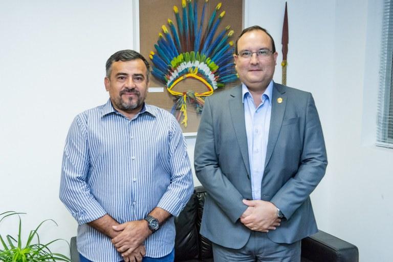 FUNAI: Presidente da Funai recebe o coordenador regional do Alto Purus