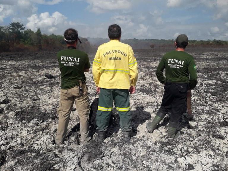 FUNAI: Funai apoia ações de combate ao fogo na Terra Indígena Aldeia Velha