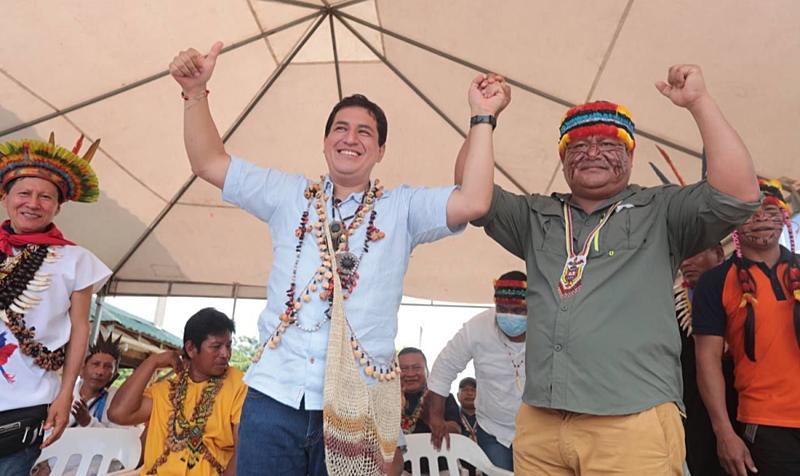 BRASIL DE FATO: Presidente da Confederação Indígena do Equador anuncia apoio à candidatura de Arauz
