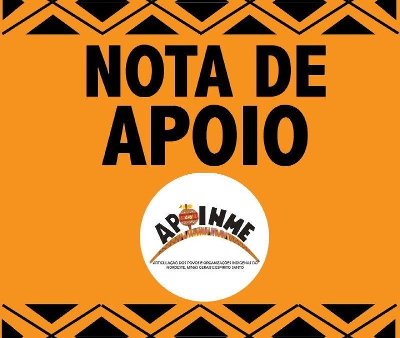 APIB: Nota da APOINME em defesa da APIB