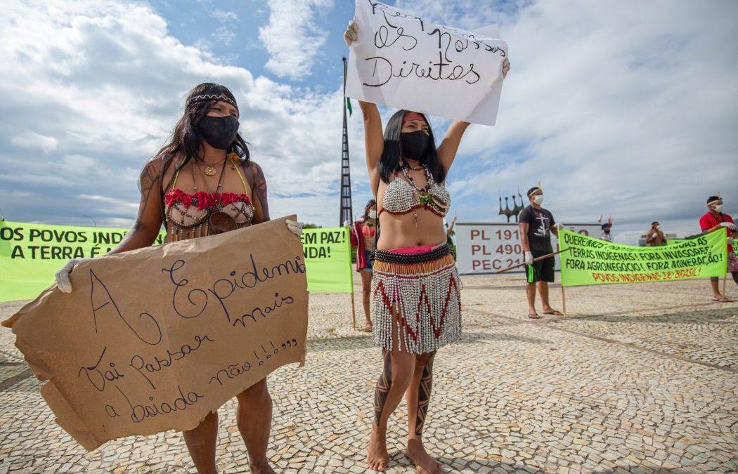 CIMI: Povos realizam caminhada em Brasília nesta terça (20) por demarcação e contra mineração e agronegócio em suas terras