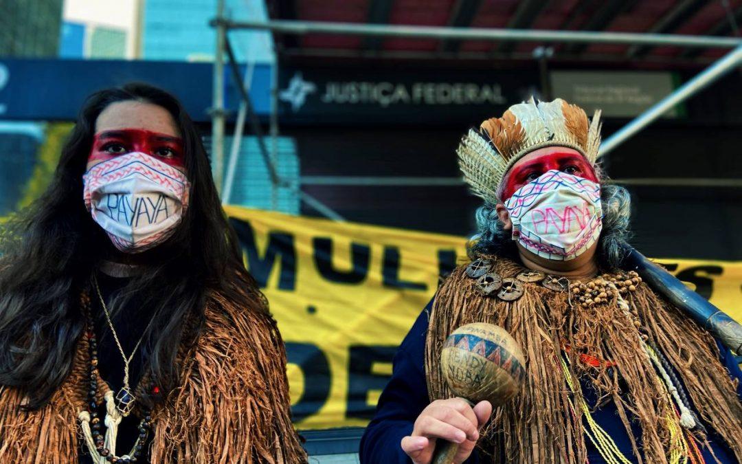 JORNALISTAS LIVRES: Mulheres indígenas dizem NÃO ao marco temporal