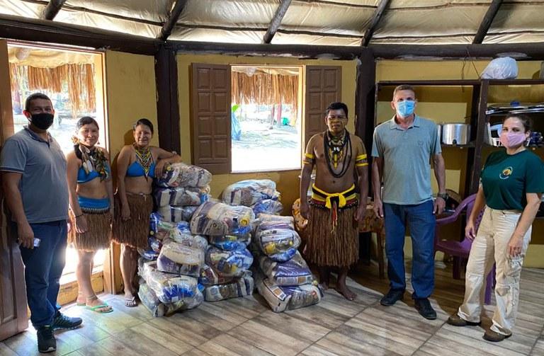 FUNAI: Funai distribui 30,8 mil cestas de alimentos para indígenas da Bahia