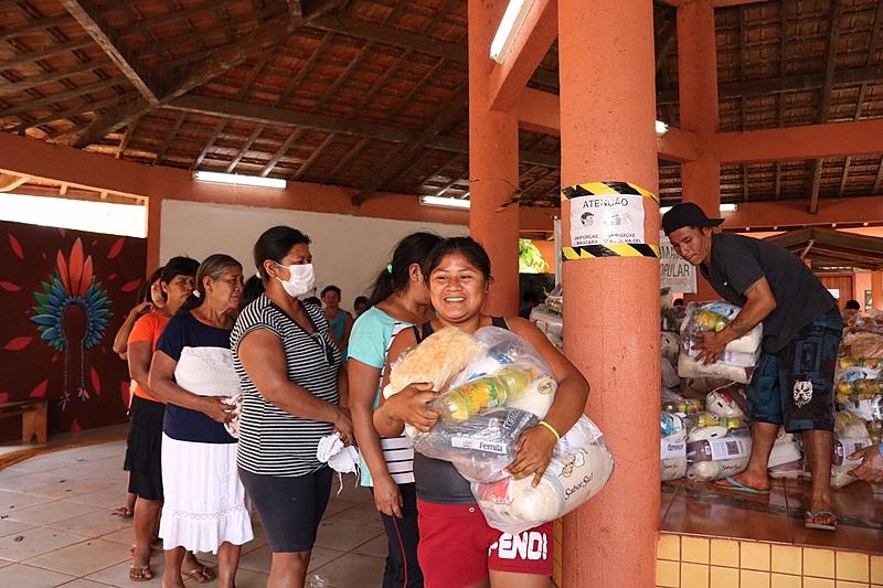 BRASIL DE FATO: No Paraná, reserva indígena guarani recebe 3,5 toneladas de alimentos