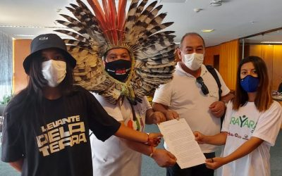 APIB: Lideranças indígenas protocolam carta ao ministro do STF Alexandre de Moraes