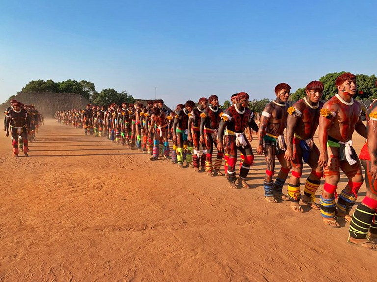 FUNAI: No Parque do Xingu (MT), presidente da Funai participa do ritual do Kuarup na aldeia Yawalapiti