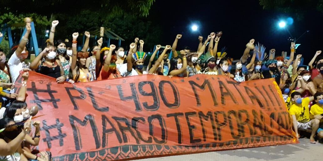 """INA: Indígenas marcham nesta quarta (1º) com retomada do julgamento sobre """"marco temporal"""" pelo STF"""